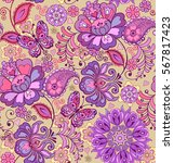 cute seamless pattern with...   Shutterstock .eps vector #567817423
