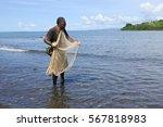 indigenous fijian fisherman... | Shutterstock . vector #567818983