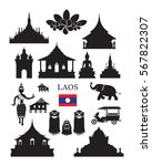 laos landmarks and culture... | Shutterstock .eps vector #567822307