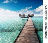 water bungalows resort at...   Shutterstock . vector #567830197