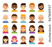 set of diverse male and female... | Shutterstock .eps vector #567840937