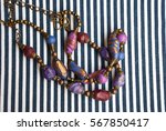 Two Bohemian Indian Beads Lay...