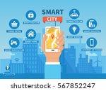 smart city vector concept...   Shutterstock .eps vector #567852247