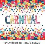 hand drawn carnival lettering... | Shutterstock .eps vector #567856627