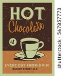 hot chocolate caffee or... | Shutterstock .eps vector #567857773