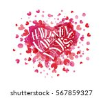 hand sketched happy valentines... | Shutterstock .eps vector #567859327