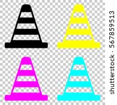 cone icon. colored set of cmyk... | Shutterstock .eps vector #567859513