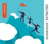 teamwork. vector illustration... | Shutterstock .eps vector #567867583