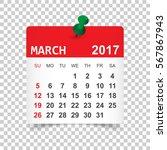 march 2017. calendar vector... | Shutterstock .eps vector #567867943