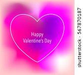 valentine s day creative... | Shutterstock .eps vector #567870187