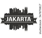 jakarta skyline stamp...   Shutterstock .eps vector #567870817