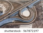 Aerial View Of Highway In ...