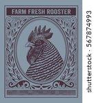 vintage organic farm fresh... | Shutterstock .eps vector #567874993