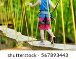 adorable little girl enjoying... | Shutterstock . vector #567893443