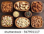 different kinds of nuts in... | Shutterstock . vector #567901117