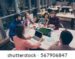 start up. group of young future ... | Shutterstock . vector #567906847