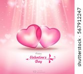 valentine's day. abstract... | Shutterstock .eps vector #567912247