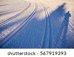 nordic ski track for classic in ... | Shutterstock . vector #567919393