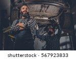 portrait of two bearded... | Shutterstock . vector #567923833