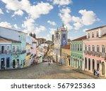 pelourinho in salvador da bahia ... | Shutterstock . vector #567925363