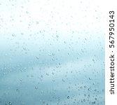 Rain Drops On Glass Water...