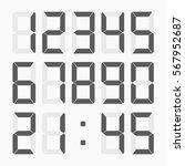 Calculator Digital Numbers Set...