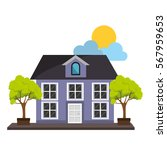 exterior cute house icon | Shutterstock .eps vector #567959653