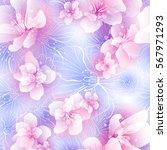 cherry blossom festival hanami  ... | Shutterstock .eps vector #567971293