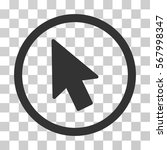 mouse pointer rounded icon....