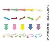 vector arrows. | Shutterstock .eps vector #568003543