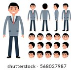 male businessman character... | Shutterstock .eps vector #568027987