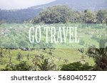 go travel concept with bali's... | Shutterstock . vector #568040527