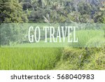 go travel concept with bali's... | Shutterstock . vector #568040983