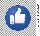 thumb up symbol  finger up icon ... | Shutterstock .eps vector #568061443