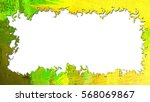 frame for photo or text  yellow ... | Shutterstock . vector #568069867