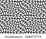black and white vector seamless ... | Shutterstock .eps vector #568073773