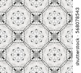 seamless pattern with ethnic... | Shutterstock .eps vector #568078543