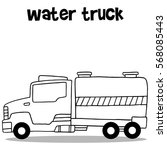 collection of water truck... | Shutterstock .eps vector #568085443