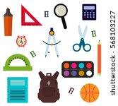 vector illustration of back to... | Shutterstock .eps vector #568103227