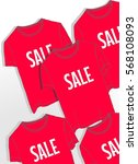 background with red t shirt for ... | Shutterstock .eps vector #568108093