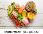 selection of food that is good... | Shutterstock . vector #568108423