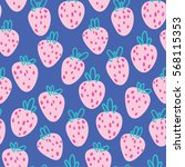 strawberry seamless pattern | Shutterstock .eps vector #568115353