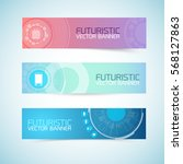 futuristic banners set of...