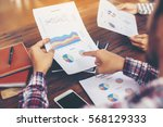 image of document with charts... | Shutterstock . vector #568129333