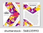 abstract vector layout... | Shutterstock .eps vector #568135993