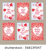 set valentine's day greeting... | Shutterstock .eps vector #568139347