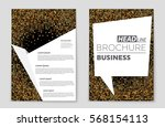 abstract vector layout... | Shutterstock .eps vector #568154113