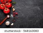 concept cook work on dark... | Shutterstock . vector #568163083