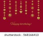 set of garlands made of gold... | Shutterstock .eps vector #568166413