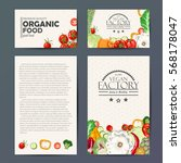 set of vector cards with fresh... | Shutterstock .eps vector #568178047